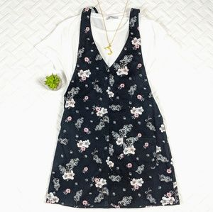 $40 Floral Overall Dress
